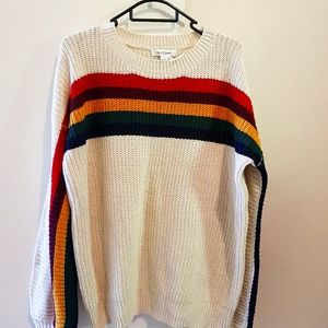 Knit Jumper with coloured stripes